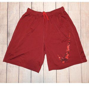 Nike Dri Fit Red Maroon Shorts Large